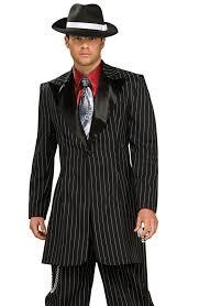 Gangster Woman Halloween Costumes Men U0027s Oversized Pinstriped Gangster Costume 1920 U0027s Gangster Suit