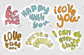 imagenes animadas sobre amor vector de dibujos animados letras sobre amor y motivación vector