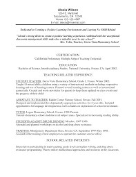 Resume For Teachers Job by 100 Resume Templates For Teaching Jobs Resume Template