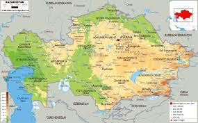 Physical Map Of South Africa by Maps Of Kazakhstan Detailed Map Of Kazakhstan In English
