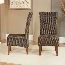 Set Of Two Dining Chairs Modus Meadow Wicker Dining Chair In Brick Brown Set Of 2