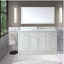 Calais  Inch Transitional Single Sink Bathroom Vanity White - White single sink bathroom vanity
