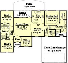 european style house plan 3 beds 2 00 baths 1500 sq ft plan 430 53