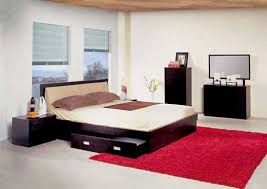 awesome japanese style interior bedroom designs with black wooden