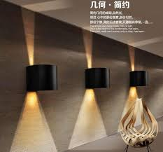 outdoor double wall light 4pieces aluminum tube 9w double cob led wall light outdoor led spot