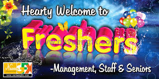 Freshers Party Invitation Cards Freshers Day Flex Banner Naveengfx
