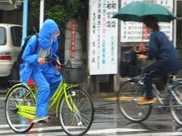 bicycle raincoat police in japan give cyclists free raincoats tokyo by bike