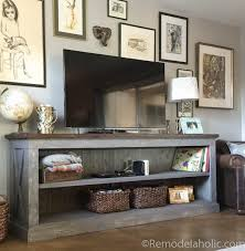 Farmhouse Console Table Remodelaholic Build A Farmhouse Style Tv Console Sideboard