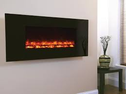 celsi electricflame wall mounted electric fire efh13bgre 1300 black glass