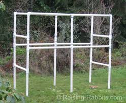 Rabbit Hutch For Multiple Rabbits Build A Rabbit Hutch With A Pvc Frame For Durability And Easy Cleaning