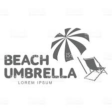 Lounge Chair Umbrella Template With Beach Umbrella And Sun Bathing Lounge Chair Stock