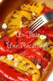 idee recette cuisine poivrons marinés à l ail recette facile un jour une recette