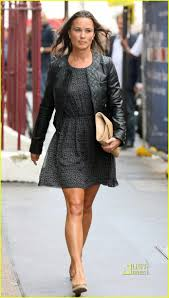 pippa middleton wore a safety pin print whistles dress and black