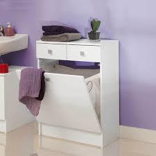 salle de bain avec meuble cuisine symbiosis meuble bas de salle de bain avec bac à linge blanc