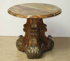 antique marble top pedestal table evans gerst antiques italian marble top table