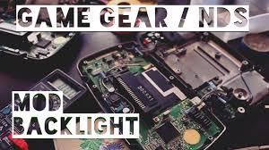 game gear backlight mod game gear nintendo ds backlight modification backlit led eng