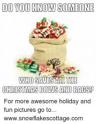 bags of christmas bows do you knowsomeone who savesall the christmas bows and bags for more