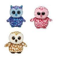 ty beanie boos small 6 3 owls oscar pinky swoops