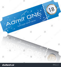 admit one home theater admit one ticket stock vector 53941339 shutterstock