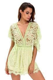 women lace sheer top romper dress brief cute club night
