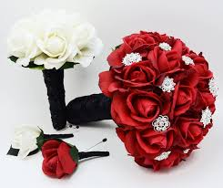 download black and red wedding bouquets wedding corners