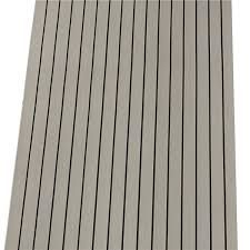 240cmx90cmx5mm marine flooring faux teak grey with white lines eva
