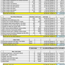 residential construction cost estimator excel and construction