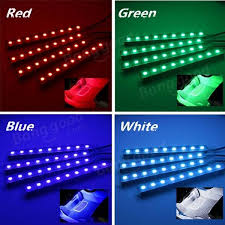 Led Strip For Car Interior Rgb Led Car Interior Atmosphere Glow Sticker Strip Lights Remote