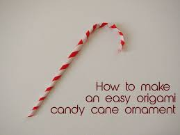 easy origami candy cane christmas ornament useful origami