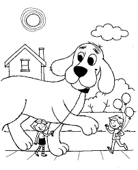 coloring page of a big dog clifford the big red dog coloring pages 1946