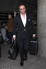 tom ford tom ford lands at lax amid spat with president elect tom ford
