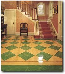 geometric designs painted inlays on wood floors geometric