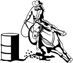 barrel horse cliparts clip art library