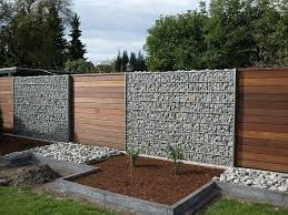 wood and gabion fence gabion wood fence decorating ideas t street