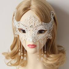 lace masquerade masks for women trendy masks for adults ghost white lace