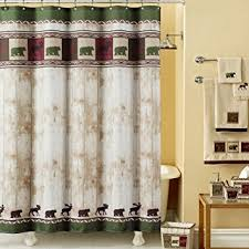 Themed Fabric Shower Curtains Ds Bath Woodland Vintage Shower Curtain Mildew