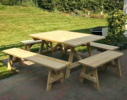 Folding Wood Picnic Table Outdoor Wooden Picnic Tables Benches Table Separate Plans Free