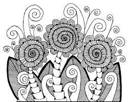 zentangle pattern trio flowers flower zentangles and doodles