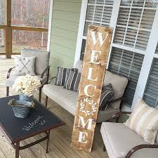 Porch Hangers by Welcome Reclaimed Wood Welcome Sign Farmhouse Style