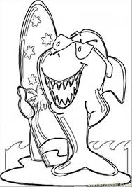 surfing shark coloring free australia coloring pages