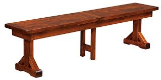 amish furniture hand crafted solid wood benches dovetails