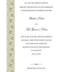 Wedding Invitation Card Sample In Traditional Wedding Invitations Templates Kmcchain Info