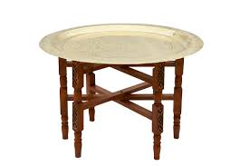 moroccan tea table stand designed for living made to last large solid brass moroccan tea