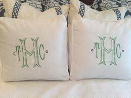 Large Bed Pillows Monogrammed Triangle Wedge Pillow Large Applique Throw
