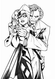squad coloring pages adults harley joker comic