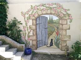 ten taboos about garden wall murals ideas you should never small Garden Mural Ideas