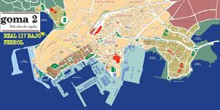 Spain Cities Map by Ferrol Spain Cruise Port Of Call