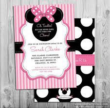 minnie mouse baby shower invitations printable minnie mouse