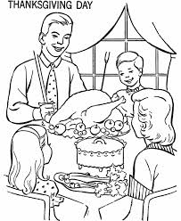 thanksgiving family dinner coloring pages bltidm