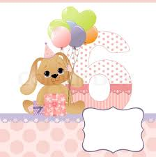 cute template for baby birthday card stock vector colourbox